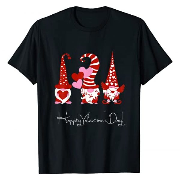 Gnomies Valentine's Day Gift Clothes Graphic Tshirt 1 Three Gnomes Holding Hearts Valentines Boys Girls Kids T-Shirt
