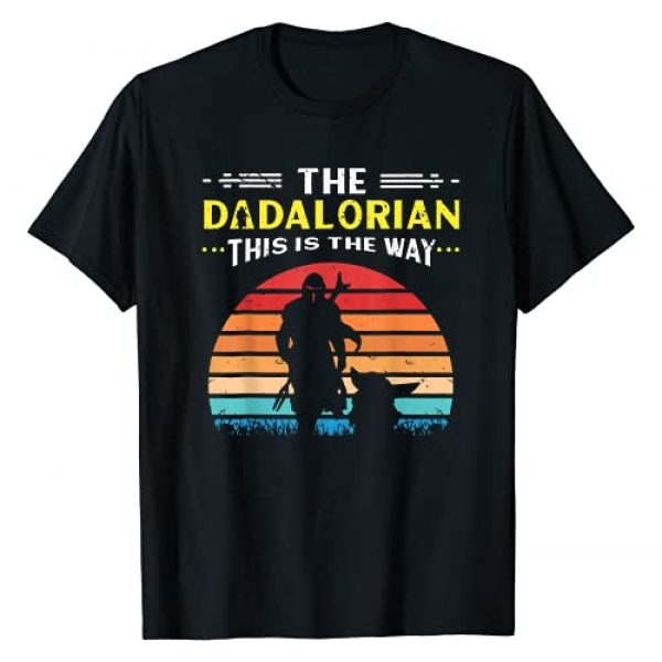 Funny Designz Graphic Tshirt 1 The Dadalorian This is the Way - Father Star Dad Mando Wars T-Shirt