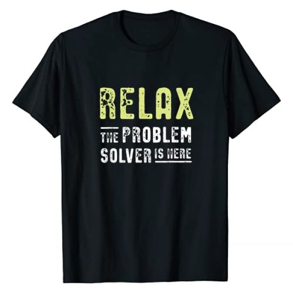 Funny Escape Room Gifts & Cell Phone Stands Graphic Tshirt 1 Escape Room Gift - Relax, the Problem Solver is here T-Shirt