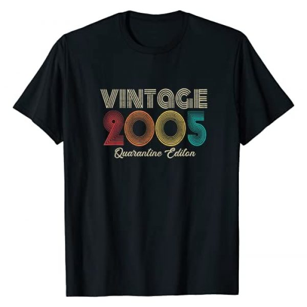 Vintage 2005 16th Birthday Shirt 16 Year Old Gifts Graphic Tshirt 1 Vintage Made in 2005 16th Bday Gifts 16 Quarantine Birthday T-Shirt