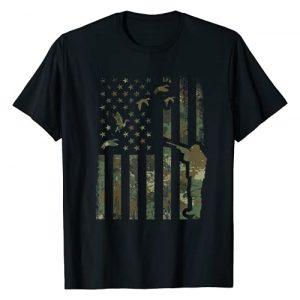 Deer Hunting Shirts Men & Camouflage Hunter Shirt Graphic Tshirt 1 Duck Hunting Camo Men Camouflage Hunter Gift American Flag T-Shirt