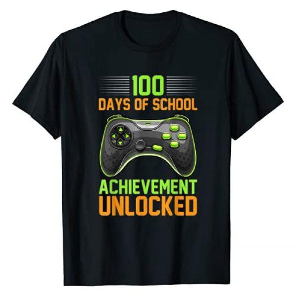 100th Day of School Matching Shirt Graphic Tshirt 1 100 Days of School for Gamer Boy Kids Girls Controller T-Shirt