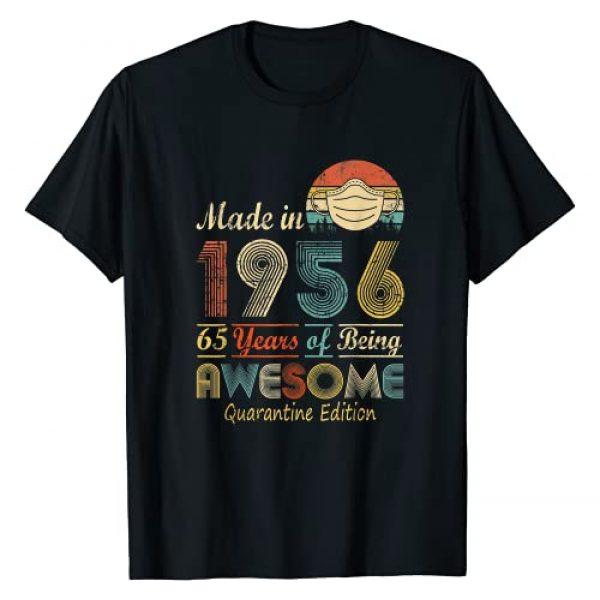 Happy 65th Birthday Gift Idea 2021 Years. Graphic Tshirt 1 Made In 1956 65th Birthday Quarantine Gift 65 Years Old T-Shirt