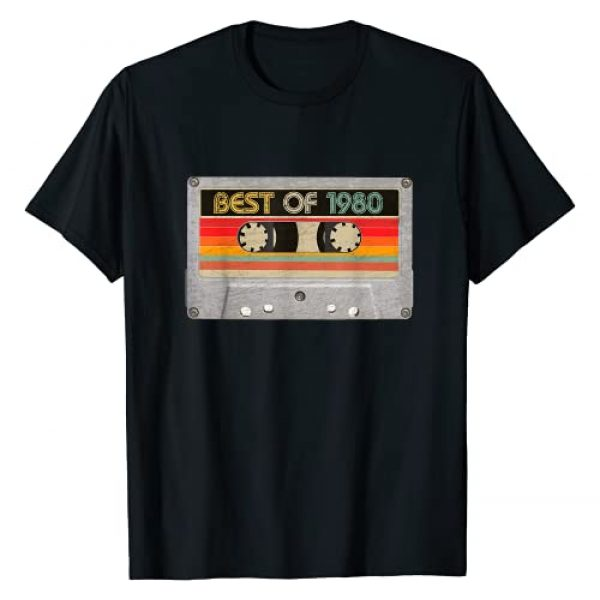 BORN Graphic Tshirt 1 Best Of 1980 41st Birthday Gifts Cassette Tape Vintage T-Shirt
