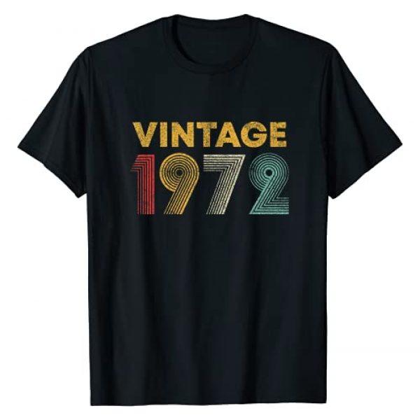 Vintage 1972 Retro 49th Birthday Gifts Graphic Tshirt 1 Vintage 1972 49th Birthday Gift Men Women 49 Years Old T-Shirt