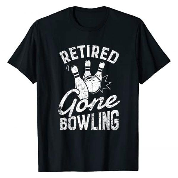 Lique Bowling Graphic Tshirt 1 Retired Gone Bowling Tshirt Men Women Bowler Bowlers Gifts T-Shirt