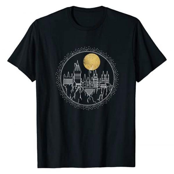 Harry Potter Graphic Tshirt 1 Hogwarts Full Moon Line Art T-Shirt