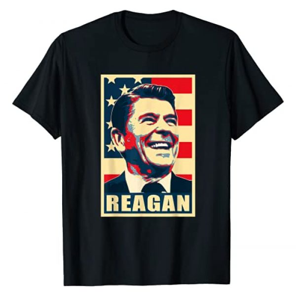 History And Politics Graphic Tshirt 1 Ronald President Reagan Happy American Pop Art T-Shirt