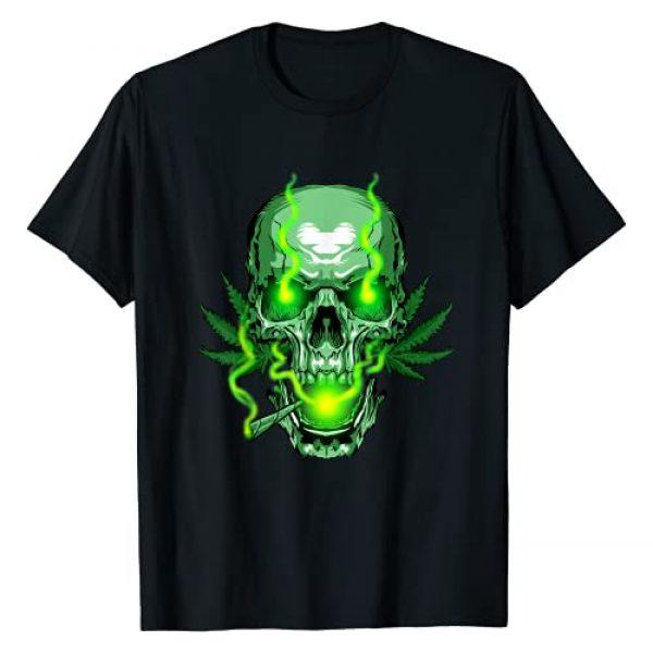 Skull N Bones Tees And Gift Idea Graphic Tshirt 1 Cannabis Skull Skeleton Dead Head Death Cool Weed Gift Idea T-Shirt