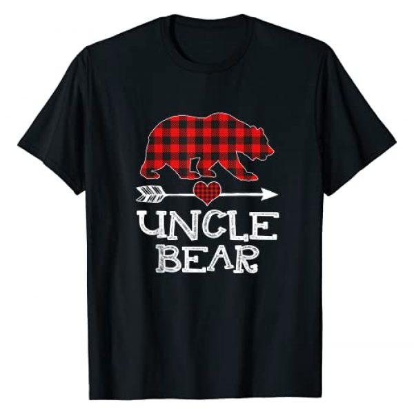 Bear Xmas Pajama Red Plaid Buffalo Family Gift Graphic Tshirt 1 Uncle Bear Christmas Pajama Red Plaid Buffalo Family Gift T-Shirt
