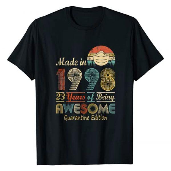 Happy 23rd Birthday Gift Idea 2021 Years. Graphic Tshirt 1 Made In 1998 23rd Birthday Quarantine Gift 23 Years Old T-Shirt
