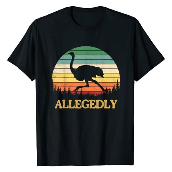 Funny Allegedly Ostrich Gift Tee Graphic Tshirt 1 Funny Allegedly Ostrich Gift Flightless Birt Lovers T-Shirt