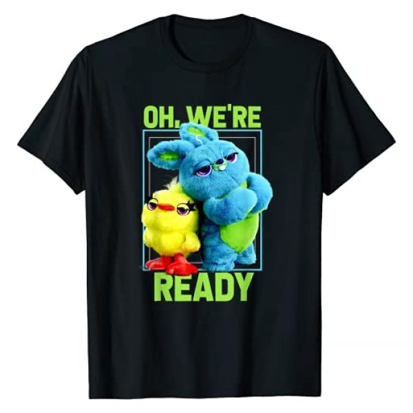 Disney Graphic Tshirt 1 Pixar Toy Story 4 Ducky & Bunny Oh, We're Ready Graphic Tee T-Shirt