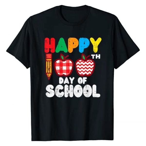 BoredKoalas 100th Day Of School Shirts Costume Graphic Tshirt 1 Happy 100th Day School Apples 100 Days Student Teacher Gift T-Shirt