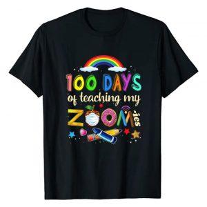 Happy 100th Day of School 2021 Teacher Student Tee Graphic Tshirt 1 100 Days of School Teaching My Zoom-ies Virtual Teacher Gift T-Shirt