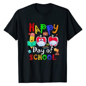 Virtual Teacher of Distance Learning Gift 2021 Graphic Tshirt 1 Happy 100th Day of School Kindergarten Teacher or Student T-Shirt