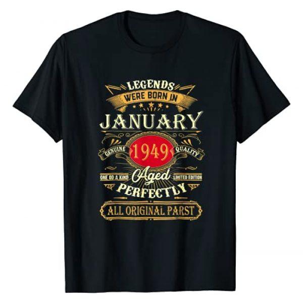 January 1949 72Th Birthday Gifts Graphic Tshirt 1 Legends Were Born In January 1949 72Th Birthday Gifts T-Shirt
