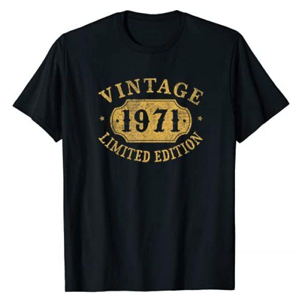 Jomqueru Birthday Aniv Limited Graphic Tshirt 1 50 years old 50th Birthday Anniversary Gift Limited 1971 T-Shirt