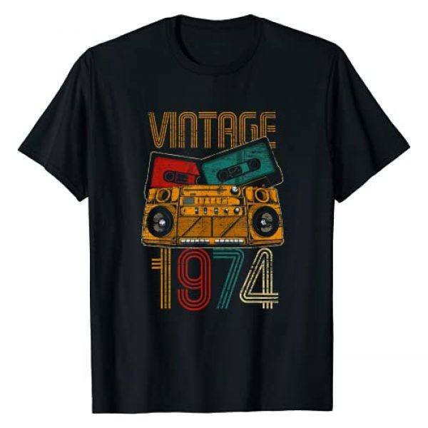 Vintage Birthday Gifts Retro Graphic Tshirt 1 47th Birthday Gifts - Years Old Vintage 1974 T-Shirt