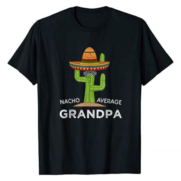 Cartba Grandpa Co. Graphic Tshirt 1 Grandpa Humor Gifts | Funny Saying Nacho Average Grandpa T-Shirt
