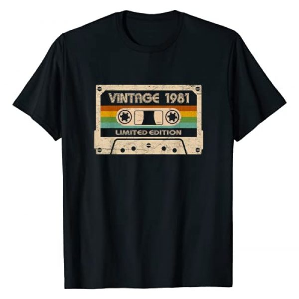 Made in Birthday Apparel Graphic Tshirt 1 40 Years Old Vintage 1981 Made in 1981 Best of 40th birthday T-Shirt