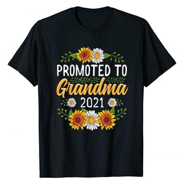 New Grandma Shirt & Tees Co Graphic Tshirt 1 Promoted To Grandma 2021 Shirt New Grandma Gifts Sunflower T-Shirt