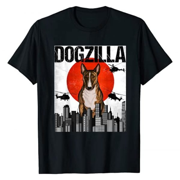 Miniature Bull Terriers Owner Gift Graphic Tshirt 1 Funny Vintage Japanese Dogzilla Miniature Bull Terrier T-Shirt