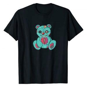 Goth Halloween Parodies Graphic Tshirt 1 Evil Scary Teddy Bear T-Shirt