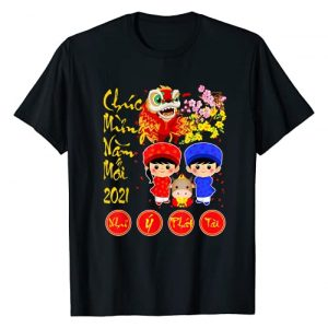 Happy Vietnamese Lunar New Year 2021 Buffalo Gifts Graphic Tshirt 1 Chuc Mung Nam Moi Happy Vietnamese Lunar New Year 2021 T-Shirt