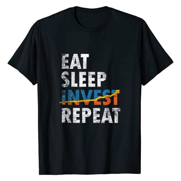 Investment Shirt Graphic Tshirt 1 Eat Sleep Invest Repeat Investment Trading T-Shirt