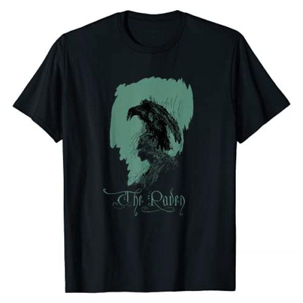 Edgar Allan Poe Tshirt Nevermore Raven Shirt Shop Graphic Tshirt 1 Vintage Edgar Allen Poe Raven Shirt Art-Allan Poe Nevermore T-Shirt