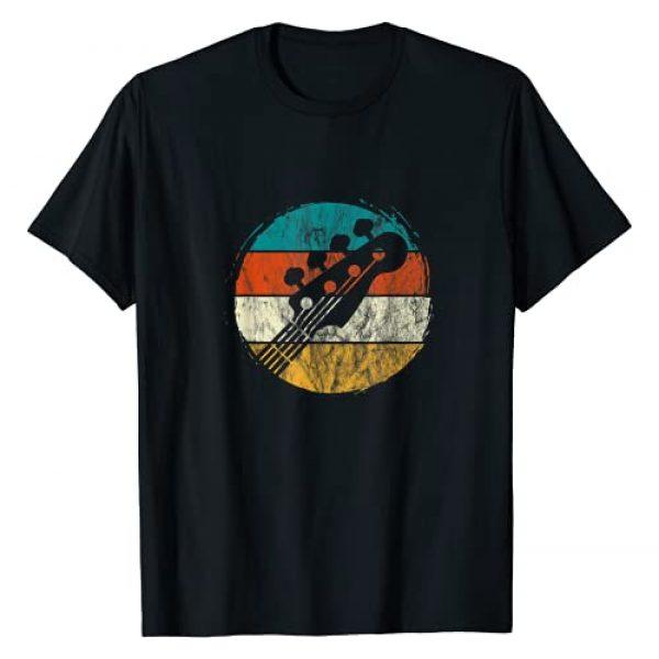 Guitar Bass Player Music Gifts Graphic Tshirt 1 Guitar Bass Player Guitarist Bassist Music Retro Vintage T-Shirt