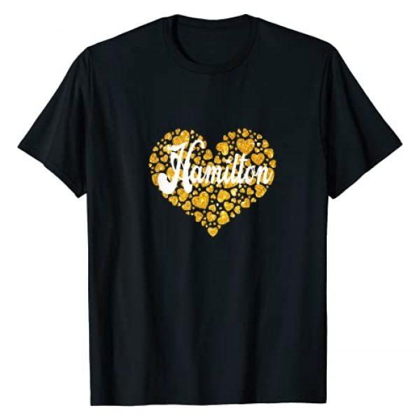 Funny Design Alexander Hamilton Gifts For Fans Graphic Tshirt 1 I Love Hamilton Heart Gift For Teenage Girl Women T-Shirt