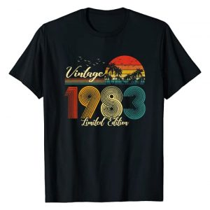 Vintage Limited Edition Graphic Tshirt 1 Vintage 1983 T-Shirt Limited Edition Men Women - 37 Birthday T-Shirt