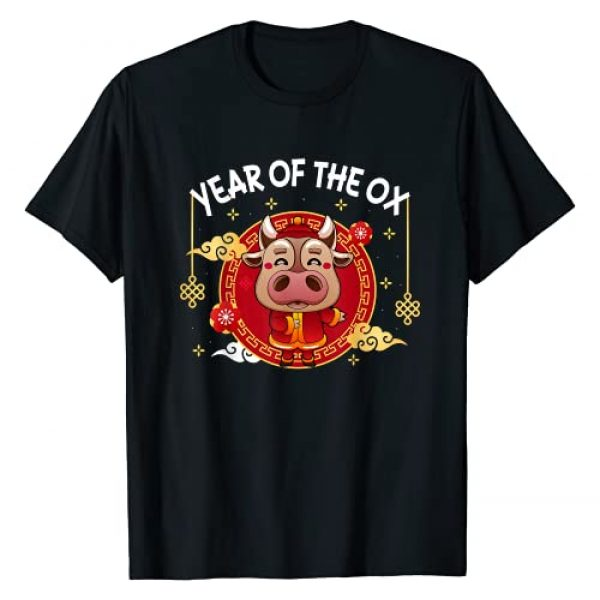 Chinese New Year 2021 Outfit Graphic Tshirt 1 Funny Chinese Zodiac Year Of the Ox 2021 Happy New Year Gift T-Shirt