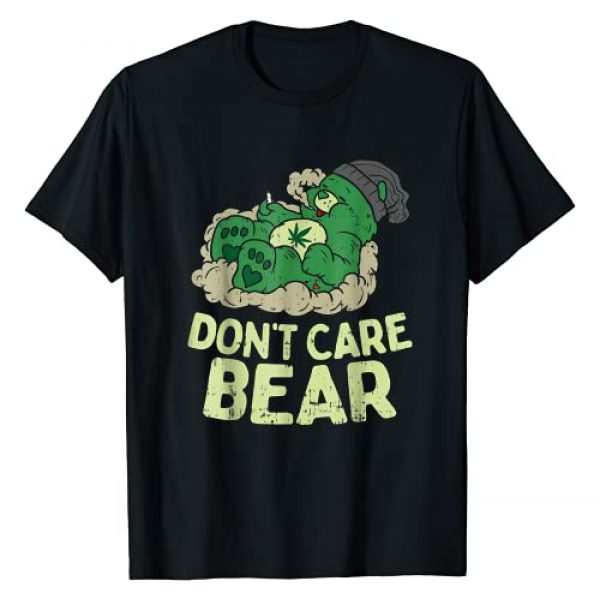 LezBCoffee Weed Bear Don't Care Graphic Tshirt 1 Weed Bear Don't Care T-Shirt