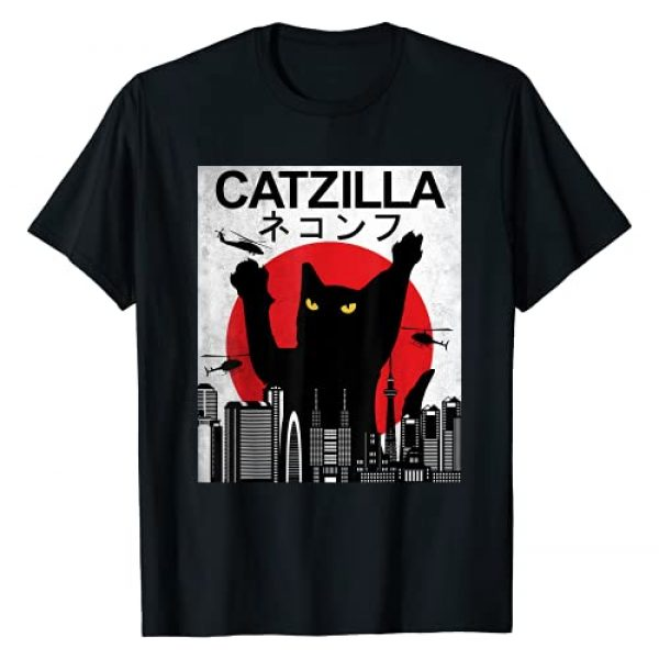 VNTGDSGN Graphic Tshirt 1 Vintage Catzilla - Japanese Cat Style - Retro Sunset Kitten T-Shirt