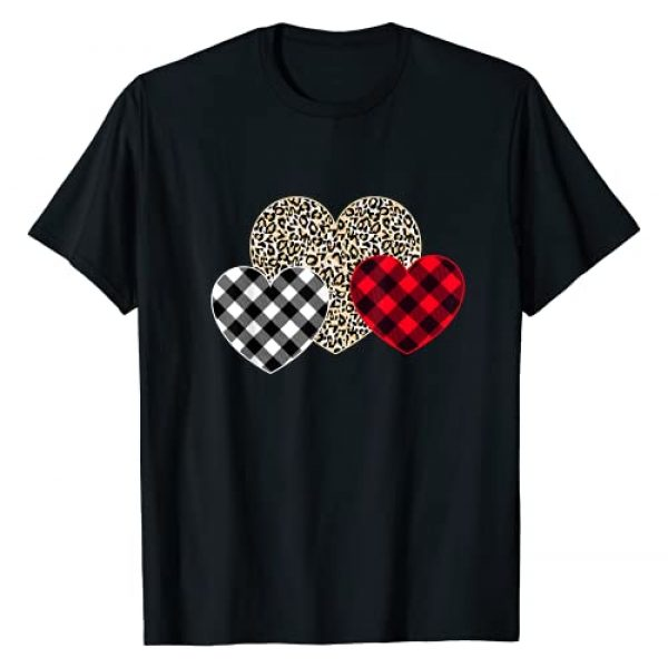 Hearts Shirt Cute Valentines Day Gifts Kids Girls Graphic Tshirt 1 Girls Valentines Day Shirts Hearts Love Leopard Plaid Gift T-Shirt
