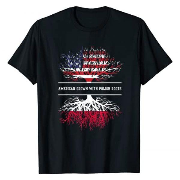 Best Art Graphic Tshirt 1 American Grown With Polish Roots Poland Polska Polish Flag T-Shirt