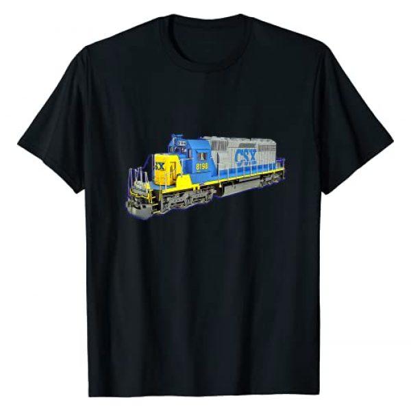 Merch Maniacs Graphic Tshirt 1 Freight Train CSX Engine T-Shirt
