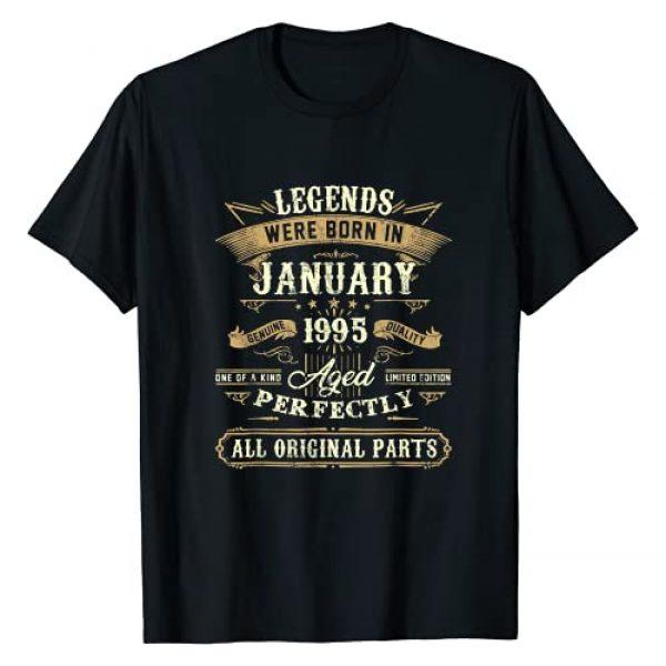 January 1995 26Th Birthday Gifts Graphic Tshirt 1 Legends Were Born In January 1995 26Th Birthday Gifts T-Shirt