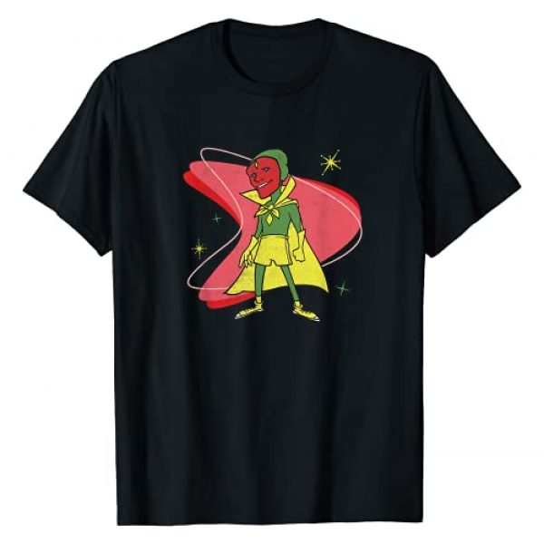 Marvel Graphic Tshirt 1 WandaVision Vision 50s Retro T-Shirt