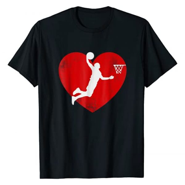 Basketball Valentine's Day Shirt Gift Graphic Tshirt 1 Basketball Valentine Day Tshirt For Basketball Lover Gifts T-Shirt