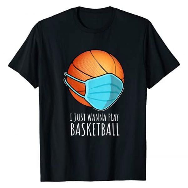 funny basketball shirts Graphic Tshirt 1 I Just Wanna Play Basketball Player T-Shirt