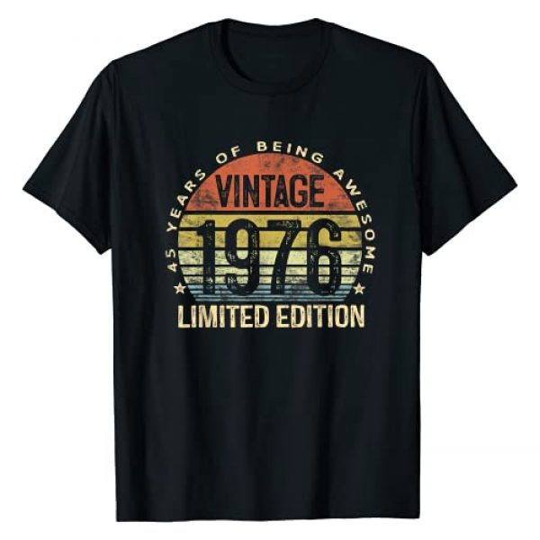 45 Years Of Being Awesome BDay Gifts Women Men Graphic Tshirt 1 45 Year Old Gifts Vintage 1976 Limited Edition 45th Birthday T-Shirt