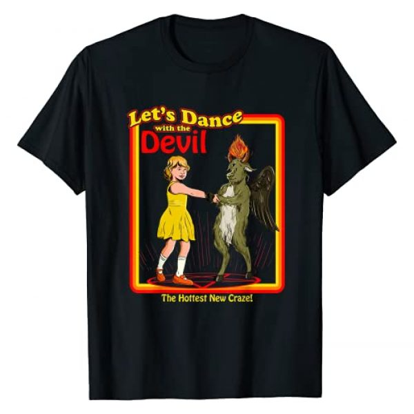 Retro Blackcraft Games Collection Graphic Tshirt 1 Witchcraft Let's Dance with the Devil Baphomet Satanic Funny T-Shirt
