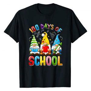 Happy 100th Day Of School Gnomes Teachers Kids Boy Graphic Tshirt 1 Happy 100th Day Of School Three Gnomes Virtual Teachers Kids T-Shirt