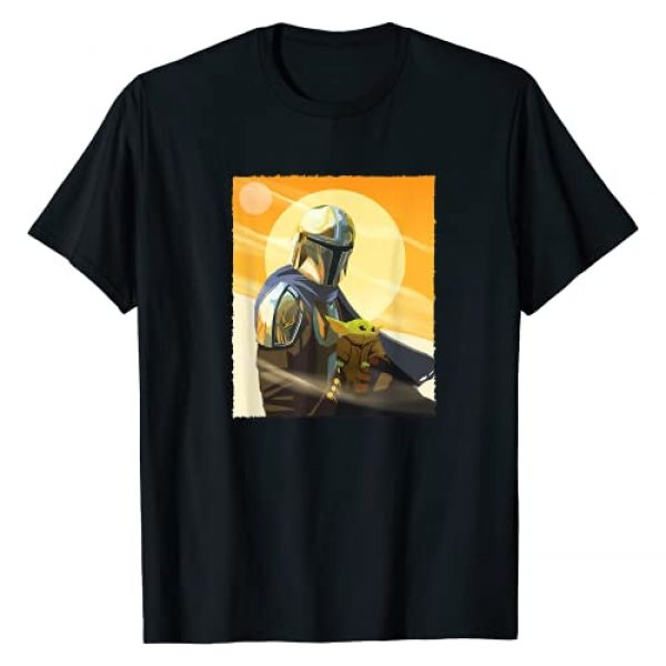STAR WARS Graphic Tshirt 1 The Mandalorian Mando and the Child Clan of Two T-Shirt