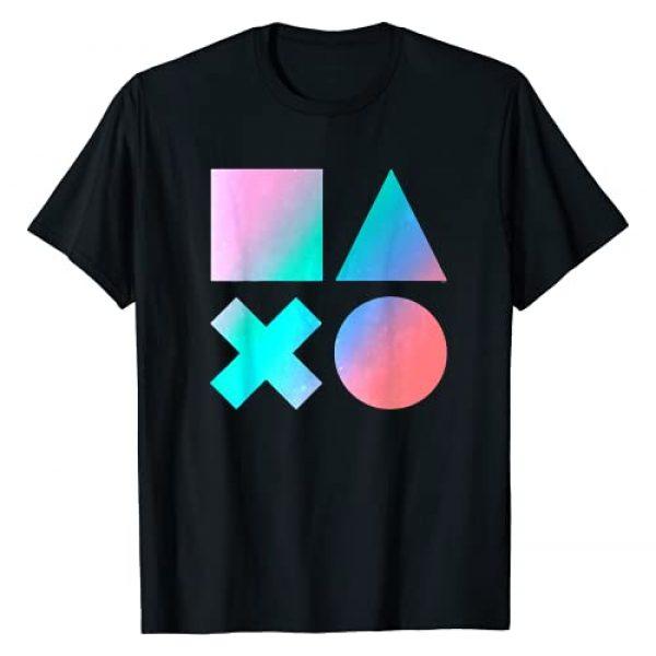 PlayStation Graphic Tshirt 1 Gradient Button Symbols T-Shirt