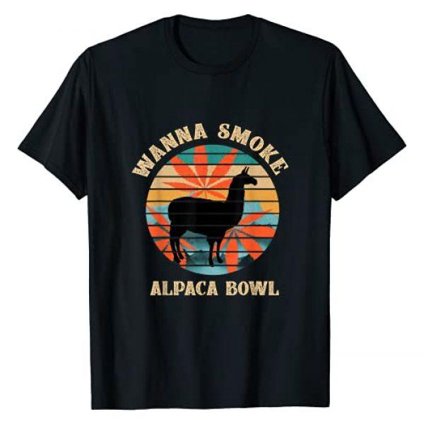 Alpaca Bowl Graphic Tshirt 1 Wanna Smoke Alpaca Bowl Vintage Retro T-Shirt